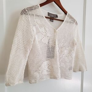 Norton Mcnaughton   NWT   PS crochet knit cardigan